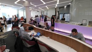 Virgin Australia lounge at Brisbane Airport