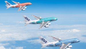 ANA A380 Flying Honu liveries