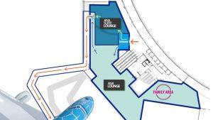 ANA Lounge Honolulu Floor-Plan