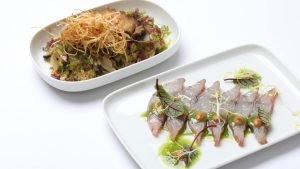 Finnair Signature Menu by Chef Sung-Yeol Nam - Sea bass and abalone with rice