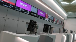 New check-in desks at Stansted airport