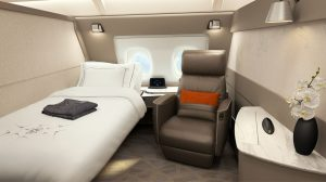 Singapore Airlines A380 first class (suites)