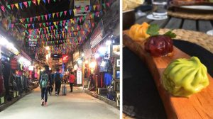 Thamel and momos at Nature's Flavours