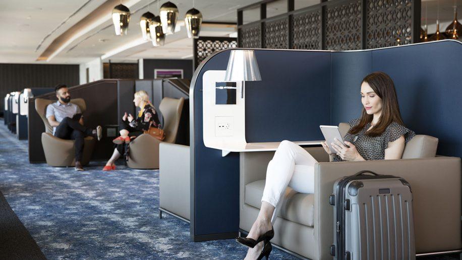 United Polaris Lounge at Newark Liberty International airport