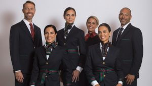 New Alitalia uniforms designed by Alberta Ferretti