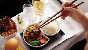 Cathay Pacific in-flight meal