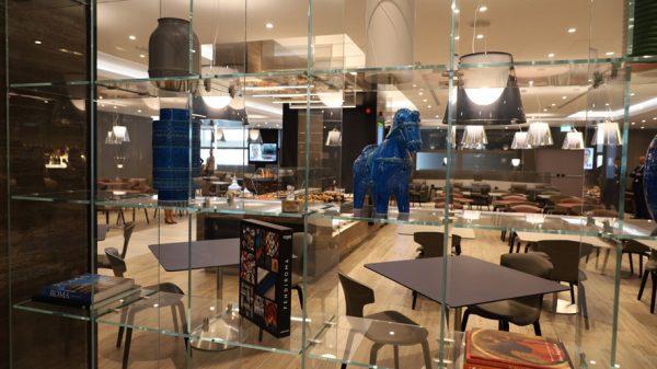 Casa Alitalia lounge at Rome Fiumicino Pier E
