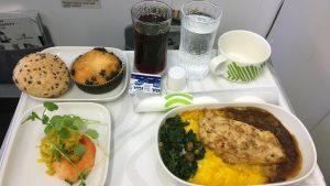 Finnair A320 business meal
