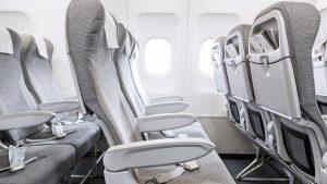 Finnair A320 row of seats
