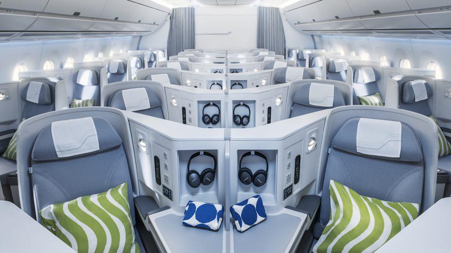 Finnair A350 business class cabin