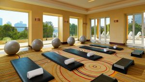 Fitness centre at the Sheraton Cairo Hotel and Casino