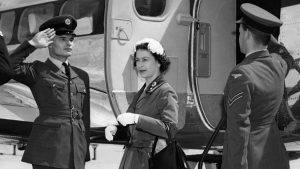 Queen Elizabeth II arriving at Gatwick airport, 1958 - image provided by Gatwick airport