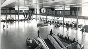 Gatwick terminal check-in area, 1958 - image provided by Gatwick airport