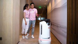 Service robot at Ascott Raffles City Shenzhen