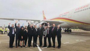 Hainan Airlines lands in Edinburgh
