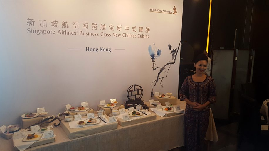 Singapore Airlines' new Chinese business class menu