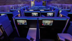 Delta One Suites on the retrofitted B777-200ER