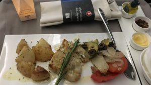 Turkish Airlines B777-300ER business class meal