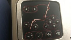 Turkish Airlines B777-300ER business class seat controls