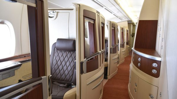 The First Class Cabin onboard HiFly's A380