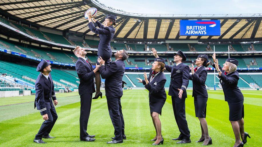 New British Airways partnership with England Rugy and Twickenham Stadium