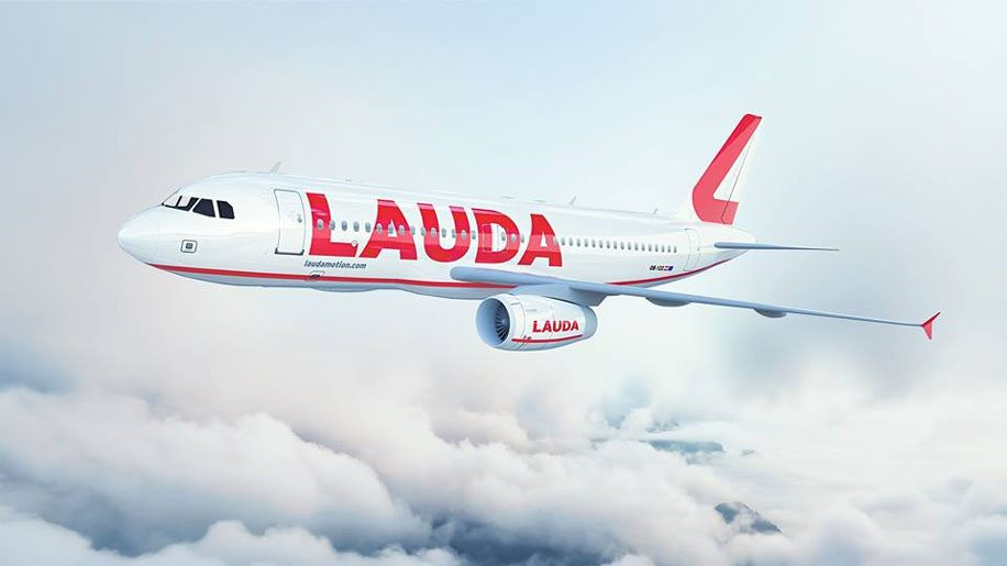 The new Laudamotion livery