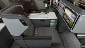 Which Hong Kong flights will have EVA Air's new Dreamliner business class?