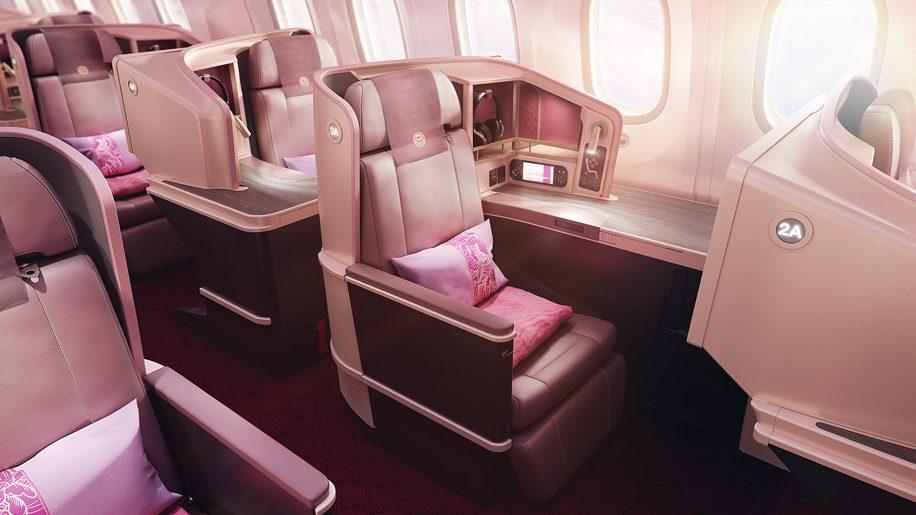 Juneyao Airlines B787-9 Dreamliner business class Vantage XL seat