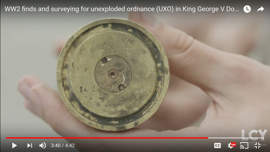 London City airport's behind the scenes video on World War Two findings