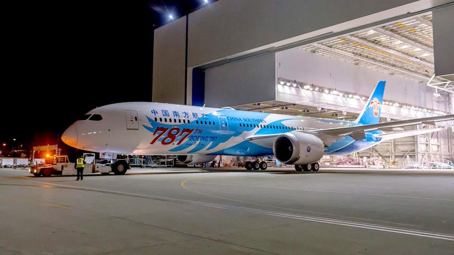 Boeing celebrates 787th Dreamliner with special livery