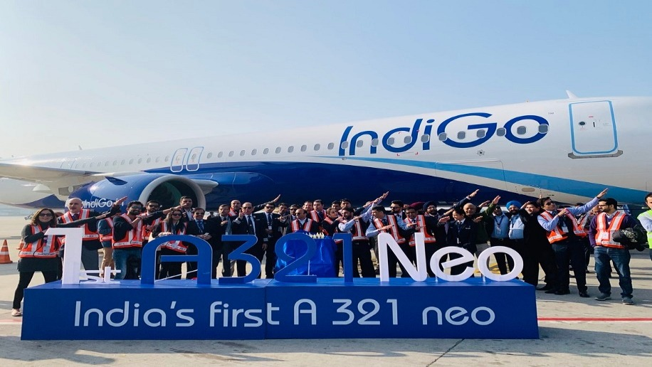 IndiGo takes delivery of its first longer range A321neo plane