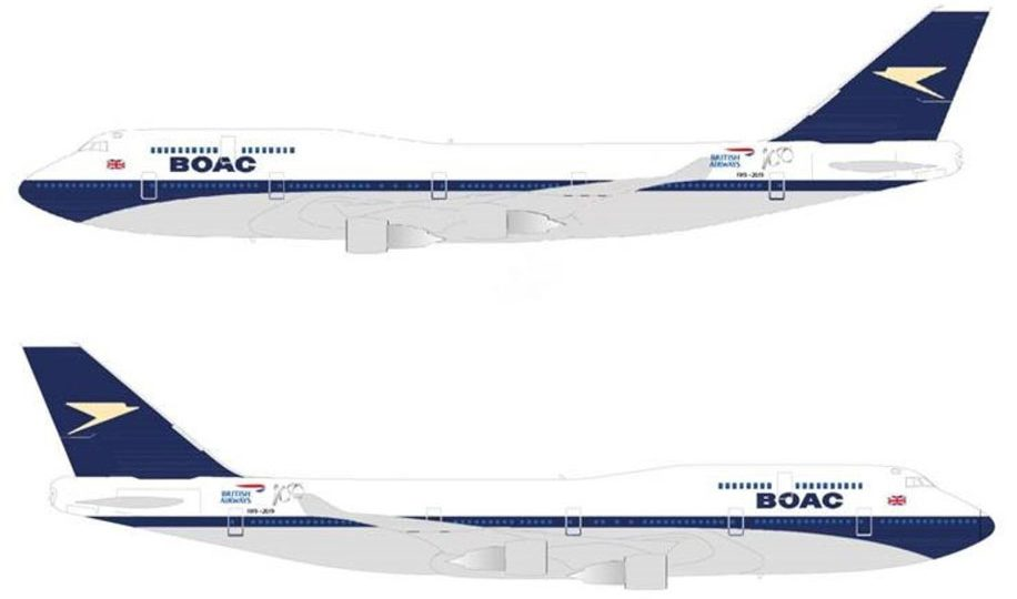 British Airways to paint B747 with retro BOAC livery