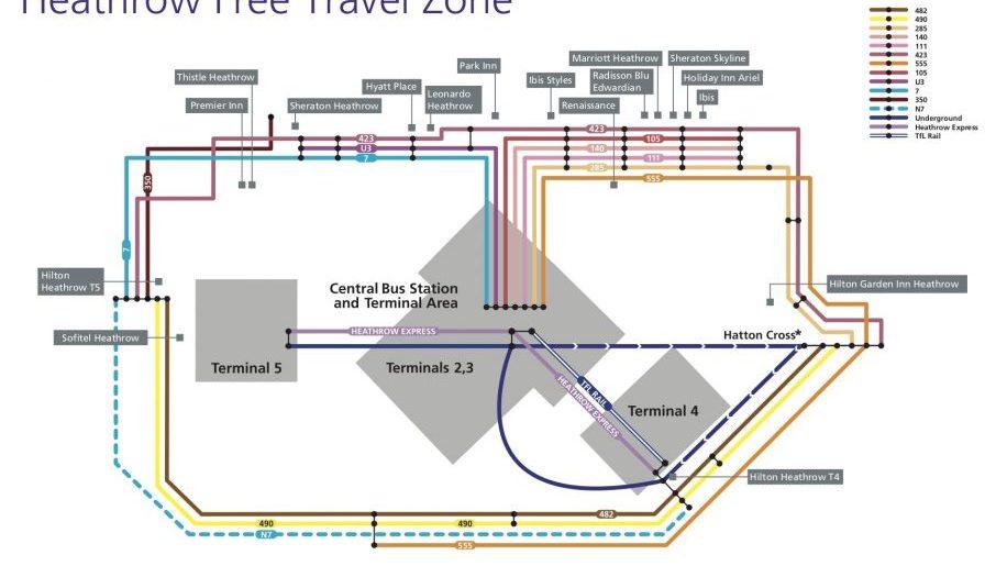 Heathrow Free Travel Zone May 2018