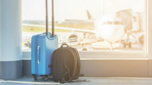 Hand luggage at the airport. Credit: iStock/Ralf Geithe