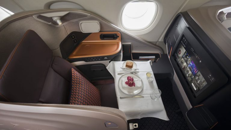 Singapore Airlines A380 new business class