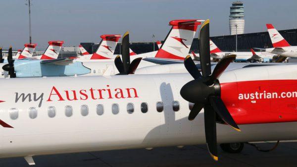 Austrian's Bombardier Dash 8 Q400 turboprop aircraft