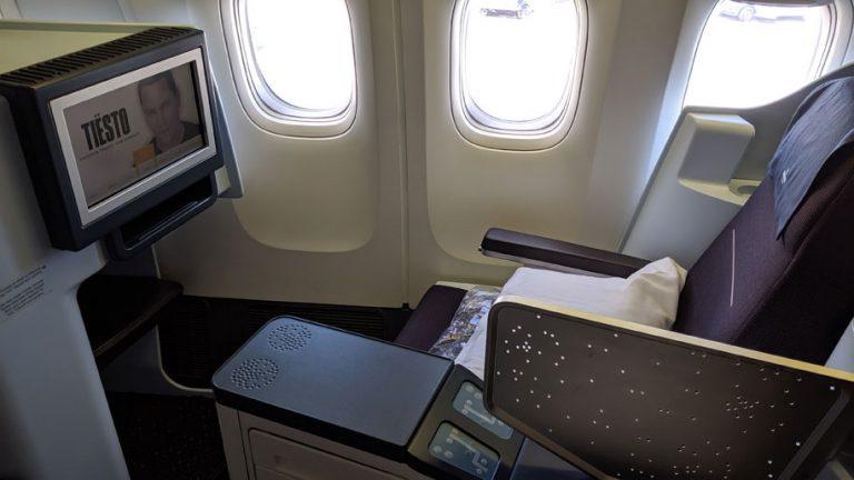 KLM World Business Class B777-300ER Seat 1K