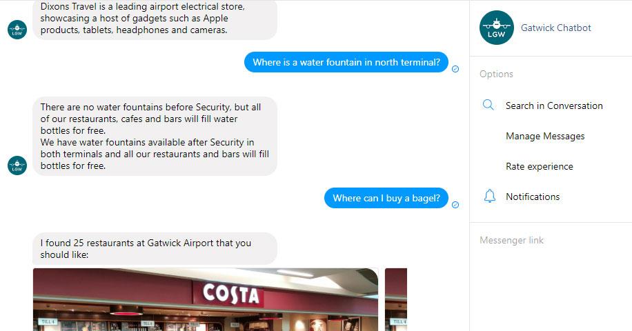 Gatwick launches Facebook messenger chatbot – Business Traveller