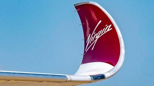Wingtip of the first Virgin Atlantic A350-1000