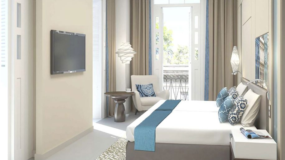 Rendering of a room at the Gran Hotel Bristol by Kempinski