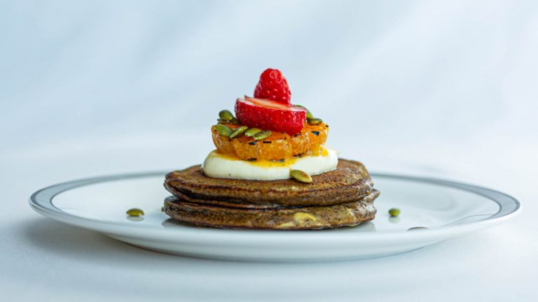 Spiced Buckwheat and Pumpkin Pancakes