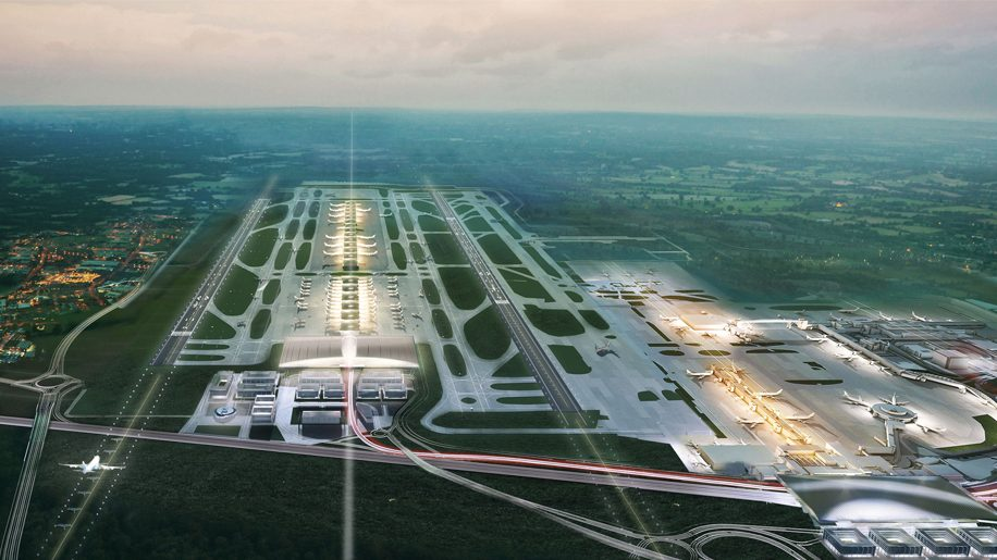 Gatwick with two terminals
