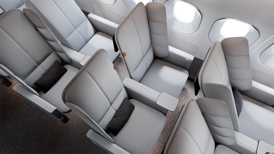 Car Rental With Car Seat >> New folding airline seat design unveiled by UK firm ...