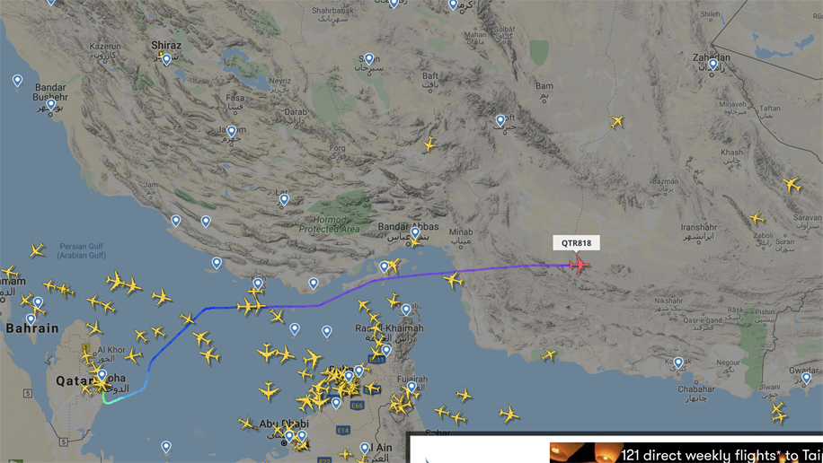 Will my flight be going over Iran? Some airlines are ...