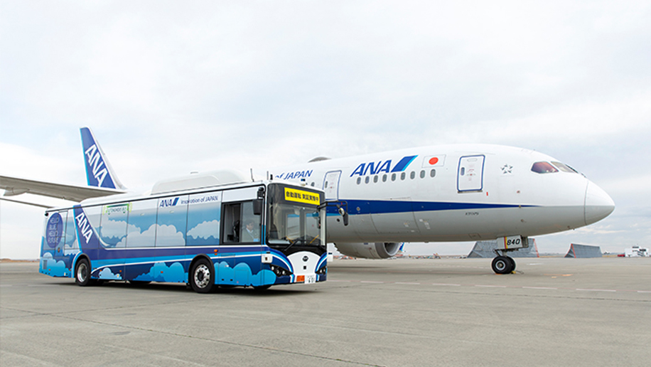 ANA tests self-driving electric bus at Haneda International Airport - business traveller