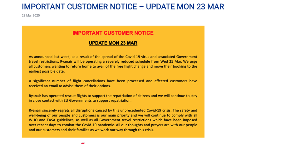 Ryanair How To Cancel And Get A Refund For Your Flight Business