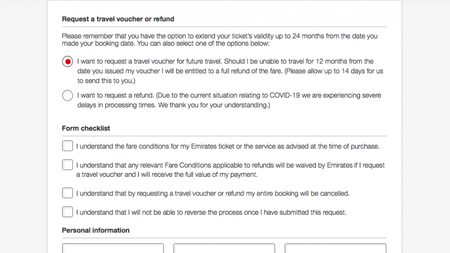 Emirates How To Cancel Rebook Or Get A Refund On Your Flight Business Traveller