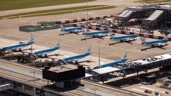KLM aircraft parked at Amsterdam Schiphol (credit: Paul Ridderhof)