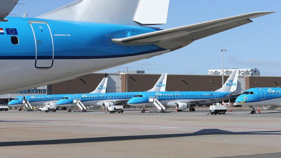 The big picture: KLM fleet parked at Amsterdam Schiphol – Business Traveller