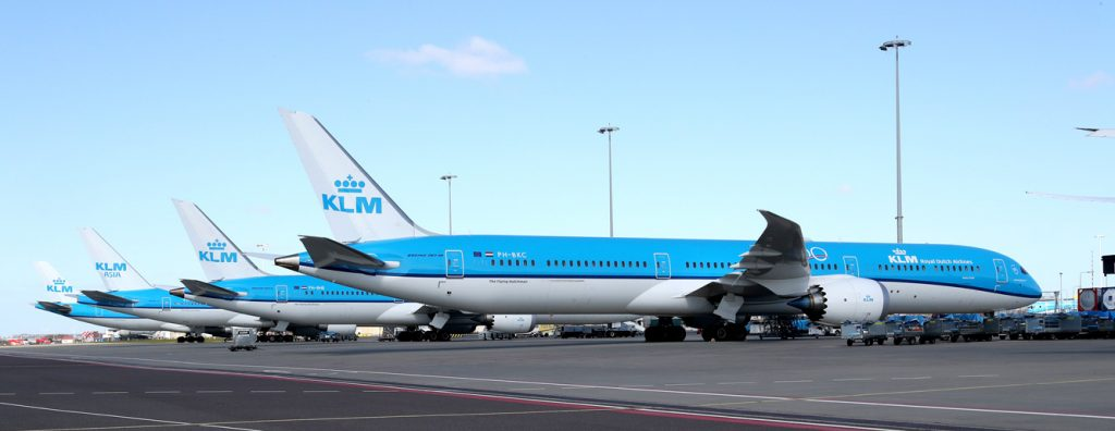 KLM aircraft parked at Amsterdam Schiphol (credit: Paul Ridderhof)